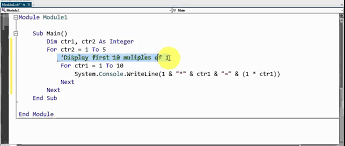 visual basic for loop visual basic nested loops example 1 youtube