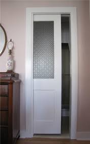 simple white stained wooden door design feature french frosted