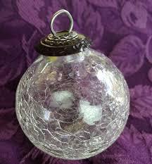 kugel midwest ornament clear crackle glass 2 1 2 crackle