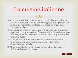 cuisine en italien la cuisine italienne ppt télécharger