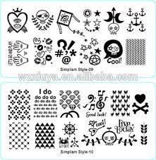 top quality best selling plates stamping nail art simplism style
