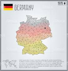 Geometric Flag Germany Map In Geometric Polygonal Style Polygonal Abstract World