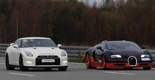 nissan gtr vs 4k race nissan gtr alpha 12 vs bugatti veyron vitesse 1200 hp