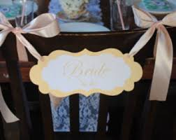 bridal shower chair gold confetti to be chair banner bridal shower