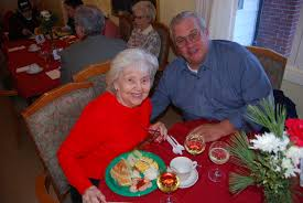 residents and their families celebrate the holiday season at