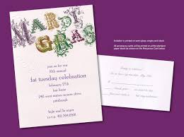 Housewarming Invitation Cards Designs Appealing Mardi Gras Party Invitation Card Design Idea With Green