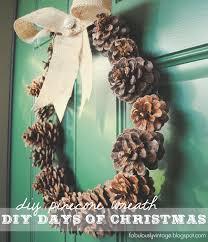 fabulously vintage diy pinecone wreath 12 diy days of christmas
