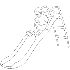 dessin de ete à colorier dessin de coloriage toboggan parc