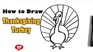 how to draw a turkey thanksgiving sketch from kren