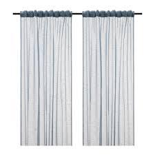 Sheer Blue Curtains Gjertrud Sheer Curtains 1 Pair Gray Blue Ikea