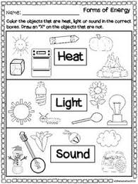 14 best images of light worksheets 2nd grade kindergarten energy