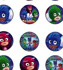 free pj masks birthday party cupcake topper printable files
