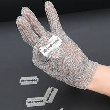 gant anti coupure cuisine gant anti coupure protection en acier inoxydable 304l gris pour