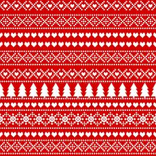 seamless christmas background card scandinavian sweater style