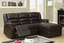 Small Leather Sofa With Chaise Small Coffee Leather Reclining Sectional Sofa Recliner Right