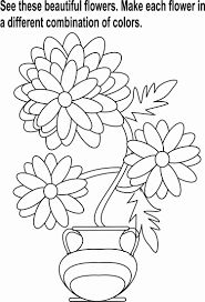 flowers bunch coloring page for kids