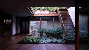 small house plans with central courtyard youtube plan atrium in