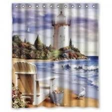Where Can I Find Curtains Lighthouse Shower Curtain Foter
