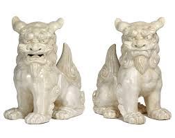 foo lion statue ceramic lion foo dogs garden statue set