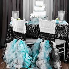 turquoise chair sashes curly willow chair sash black new design cv linens