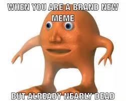 New Meme - when you are a brand new meme but already near dead mr orange