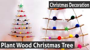 diy christmas decoration how to make your own plant wood