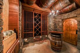 Wine Cellar Basement A Boring Low Detail Wine Cellar Became A Stone And Sapele Mahogany