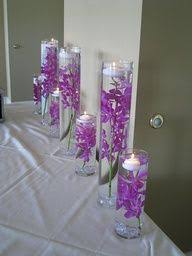 Purple Centerpieces Johnna And Justins Yosemite Wedding At The Ahwahnee Hotel