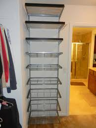 Hanging Clothes Rack From Ceiling Accessories Awesome Elfa Shelving With White Wall And Hanging