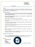 Sample Dot Net Resume For Experienced by Dot Net Developer Net Developer Sample Resume Cv