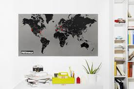 How To Hang A Map Without A Frame by Pinworld Maps U2013 Palomar