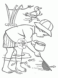 science in summer coloring page for kids seasons coloring pages