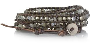 crystal wrap bracelet images Lyst chan luu labradorite pyrite and swarovski crystal five wrap jpeg