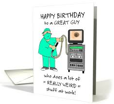 this humorous birthday card for a male colorectal surgeon or