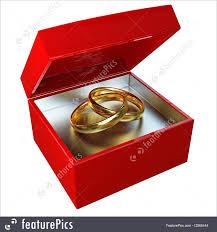 wedding ring in a box gold wedding rings illustration