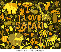africa pattern words i stock vector 304386992