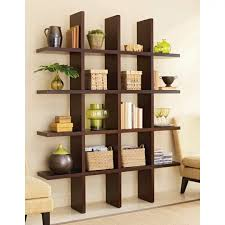 great brown color of bookcase with simple model and style in