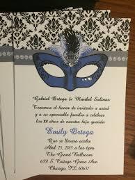 masquerade quince invitations masquerade quinceanera party