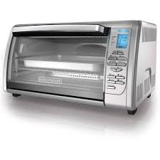 Toaster Oven With Auto Slide Out Rack Black Decker 6 Slice Digital Convection Toaster Oven Stainless