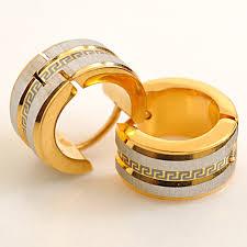 gold stud earrings for men aliexpress buy atgo factory price men earrings 316l