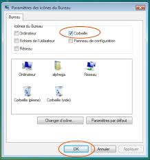 comment installer la corbeille sur le bureau retrouver la corbeille sous windows 7 ou vista