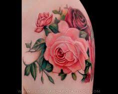 attractive bunch rose flowers shoulder meaning cute tattoo for