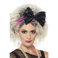 lace headband 80s lace headband black pink athlone jokeshop and costume