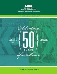 hsa 50th anniversary gala program by uab shp issuu