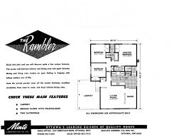 Minto Homes Floor Plans Mid Century Modern And 1970s Era Ottawa January 2011