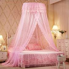 Bed Canopies Pink Princess Lace Bed Canopies Mosquito Neting For Crib