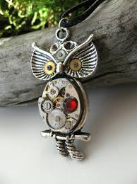 steampunk owl necklace images Owl items by dedovashop jpg
