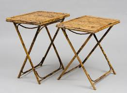 antique folding table pair of antique english bamboo folding tables