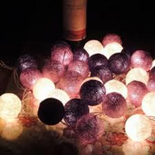 led string 20 cotton balls lights balls rope home room decor