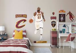 life size lebron james fathead wall decal shop cleveland